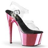 Rosa 18 cm ADORE-708 Chrome Plateau High Heels
