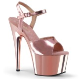 Rosa 18 cm ADORE-709 Chrome Plateau High Heel