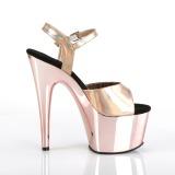 Rosa 18 cm ADORE-709HGCH Hologramm plateau high heels
