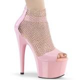 Rosa 18 cm ADORE-765RM glitter plateau high heels