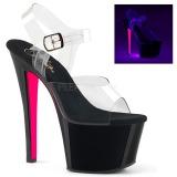 Rosa 18 cm SKY-308TT Neon plateau high heels