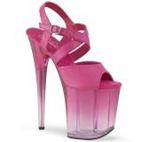 Rosa 20 cm FLAMINGO-822T plateauschuhe high heels