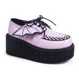 Rosa CREEPER-205 Plateau Creepers Schuhe Damen