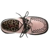 Rosa Kunstleder CREEPER-206 Plateau Creepers Schuhe Damen