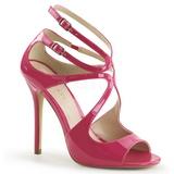 Rosa Lack 13 cm AMUSE-15 Hohe Abend Sandaletten mit Absatz