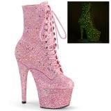 Rosa glitter 18 cm ADORE-1020GDLG pole dance ankel boots