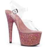 Rosa glitter 18 cm Pleaser ADORE-708LG pole dance high heels schuhe