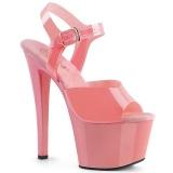 Rosa high heels 18 cm SKY-308N JELLY-LIKE stretchmaterial plateau high heels