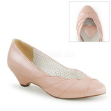 Rose 4 cm retro vintage LULU-05 Pinup Pumps Shoes with Low Heels