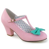 Rose 6,5 cm WIGGLE-50 Pinup Pumps Shoes with Cuben Heels