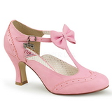 Rose 7,5 cm FLAPPER-11 Pinup Pumps Shoes with Low Heels