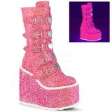 Rose Glitter 14 cm SWING-230G cyberpunk platform boots