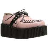 Rose Leatherette CREEPER-206 Platform Women Creepers Shoes