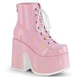 Rose Vegan 13 cm CAMEL-203 demonia ankle boots platform