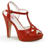 Rot 11,5 cm BETTIE-23 Hohe Abend Sandaletten mit Absatz