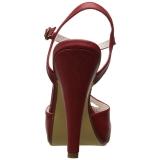Rot 11,5 cm retro vintage BETTIE-23 Hohe Abend Sandaletten mit Absatz