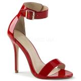 Rot 13 cm Pleaser AMUSE-10 Sandaletten mit high heels