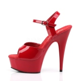 Rot 15 cm DELIGHT-609 pleaser high heels mit plateau