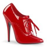 Rot 15 cm DOMINA-460 oxford high heels schuhe