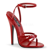 Rot 15 cm Devious DOMINA-108 Sandaletten mit high heels