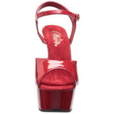 Rot 15 cm Pleaser DELIGHT-609 Plateau High Heel