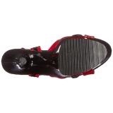 Rot 18 cm Pleaser MOON-728 Platform High Heel Schuhe