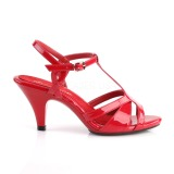 Rot 8 cm Fabulicious BELLE-322 Sandaletten mit niedrigem absatz