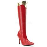 Rot 9,5 cm WONDER-130 Kniehoche Damen Stiefel