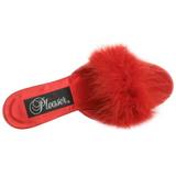 Rot Federn 8 cm AMOUR-03 Mules Damen Schuhe für Herren