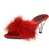 Rot Federn 8 cm BELLE-301F Mules Damen Schuhe für Herren