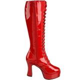 Rot Lack 10,5 cm EXOTICA-2020 Damen Schnürstiefel High Heels