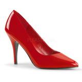 Rot Lack 10 cm VANITY-420 Damen Pumps Schuhe Flach