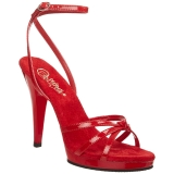 Rot Lack 12 cm FLAIR-436 High Heel Sandaletten Damen