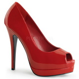 Rot Lack 13,5 cm BELLA-12 Damen Pumps Stiletto Absatz