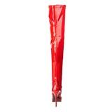 Rot Lack 13,5 cm INDULGE-3000 Plateau Überkniestiefel