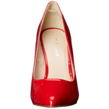 Rot Lack 13 cm AMUSE-20 Damen Pumps Stiletto Absatz