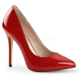 Rot Lack 13 cm AMUSE-20 High Heels Pumps für Männer