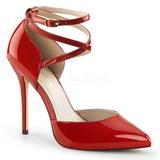 Rot Lack 13 cm AMUSE-25 High Heels Pumps für Männer