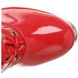 Rot Lack 13 cm ELECTRA-3028 Overknee Stiefel für Männer
