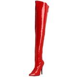 Rot Lack 13 cm SEDUCE-3000 Overknee Stiefel für Männer