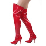 Rot Lack 13 cm SEDUCE-3000 overknee high heels stiefel
