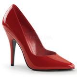 Rot Lack 13 cm SEDUCE-420V High Heels Pumps für Männer