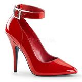 Rot Lack 13 cm SEDUCE-431 Damen Pumps Schuhe Flach