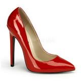 Rot Lack 13 cm SEXY-20 Damen Pumps Schuhe Flach