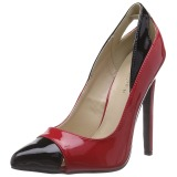 Rot Lack 13 cm SEXY-22 Klassische Pumps Schuhe Damen