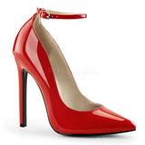 Rot Lack 13 cm SEXY-23 Klassische Pumps Schuhe Damen