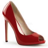 Rot Lack 13 cm SEXY-42 Klassische Pumps Schuhe Damen