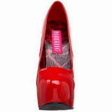 Rot Lack 14,5 cm Burlesque BORDELLO TEEZE-06 Plateau Pumps