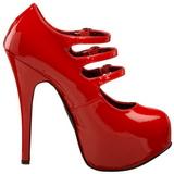 Rot Lack 14,5 cm Burlesque TEEZE-05 Damenschuhe mit hohem Absatz