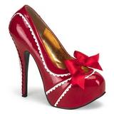 Rot Lack 14,5 cm Burlesque TEEZE-14 Damenschuhe mit hohem Absatz